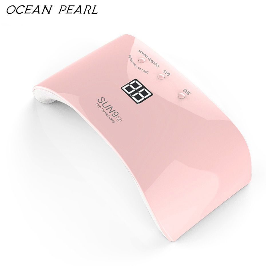 OCEAN PEARL SUN9SE LED UV lamp nail dryer 24W motion <font><b>sensor</b></font> high-tech leds Double light Nail Lamp UV Gel Polish Nail Art Tools