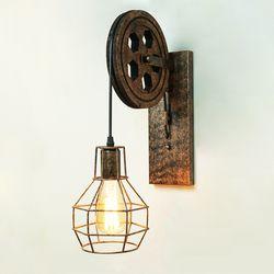 CE Loft rétro lampe créative de levage poulie mur lumière salle à manger restaurant allée couloir pub café mur lampe soutien-gorge mur applique
