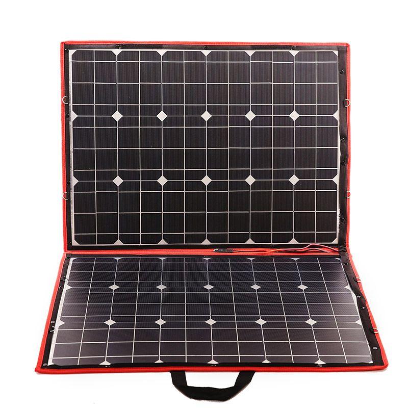 Dokio110W (55Wx2Pcs) 18V Flexible Black Solar Panels Foldable110 Watt Panels Solar solar buy direct from china esnek solar panel