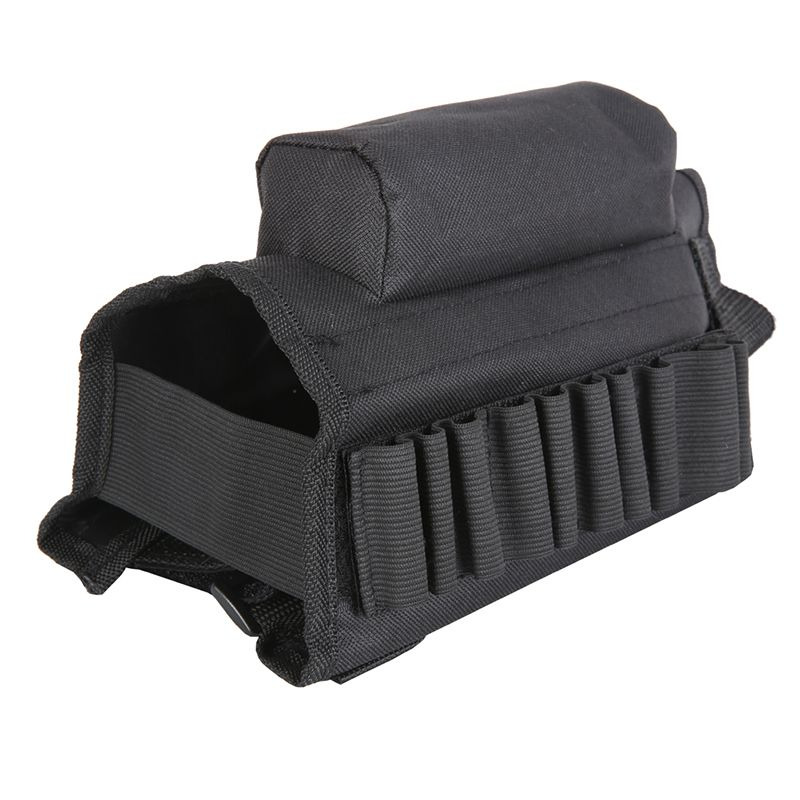 New 10 x 8 x 1 inches Tactical Buttstock Cheek Rest with Ammo Carrier Case Holder Tactical Package Bag 2 Styles