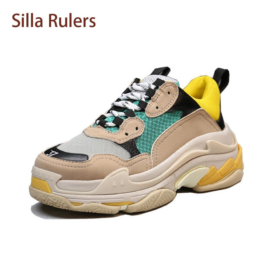 Silla Rulers 2018 Newest Designer Sneakers For Woman and Men Flat Lace Up Platform Creepers Female Casual Tenis Shoe Femininos