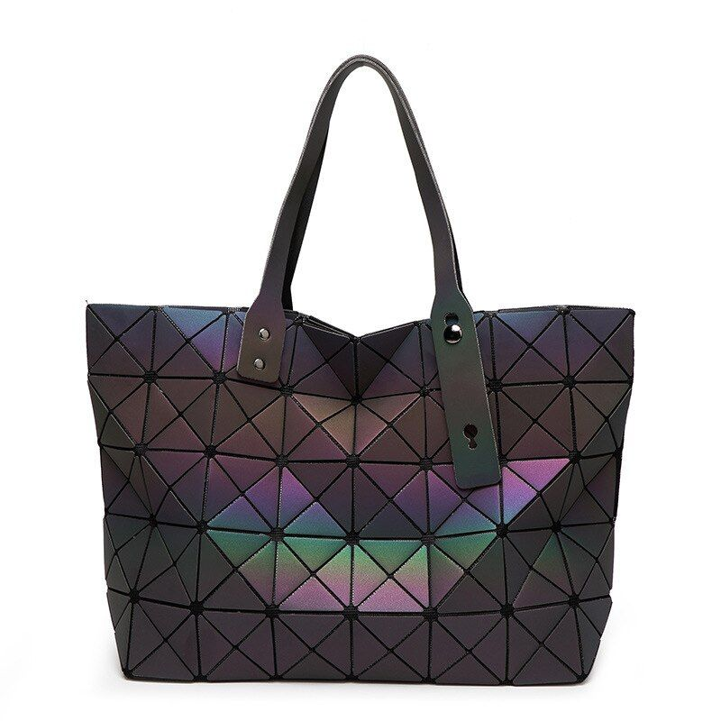 BaoBao Women Handbag Geometric Laser Handbag Women Bag Luminous Bao Bao Tote Female Fashion Briefcase Shoulder Bag Bucket Bag