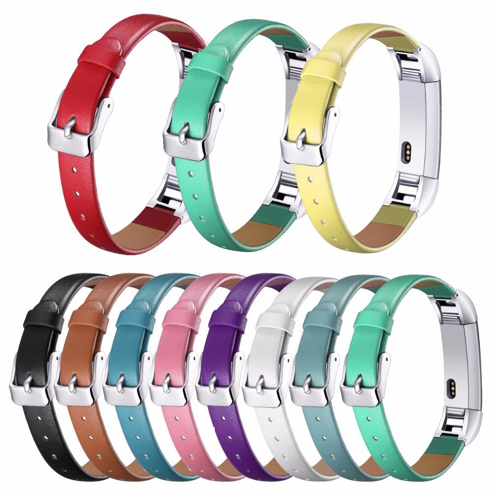 Fitbit Alta Bandes, De Luxe En Cuir Véritable Bande De Remplacement De Courroie De Bracelet pour Fitbit Alta Tracker Haute Qualité bracelet bracelet