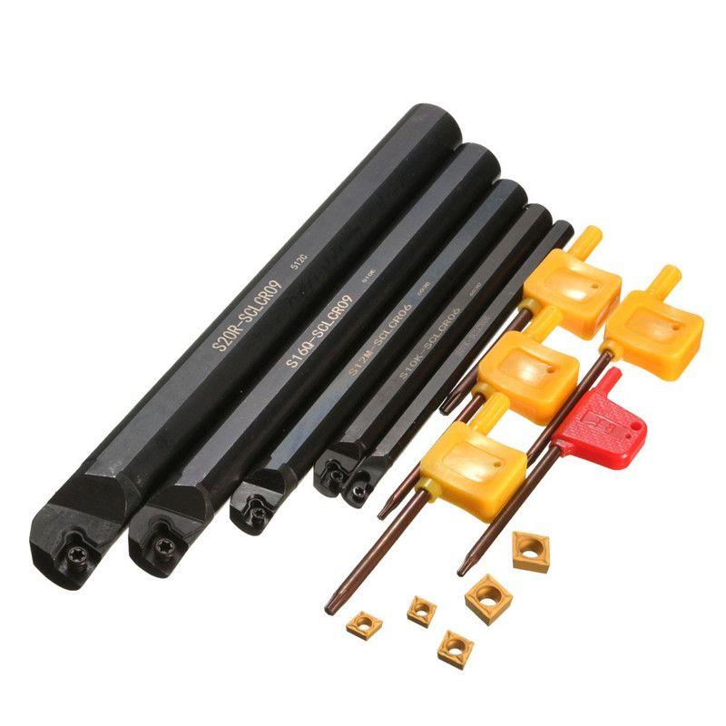 5 Teile/los Von 7 10 12 16 20mm SCLCR Drehmaschine Drehen Halter Bohrstangen Einsatz Für CCMT Für Semi-finishing S7/S10/S12/S16S20-SCLCR09
