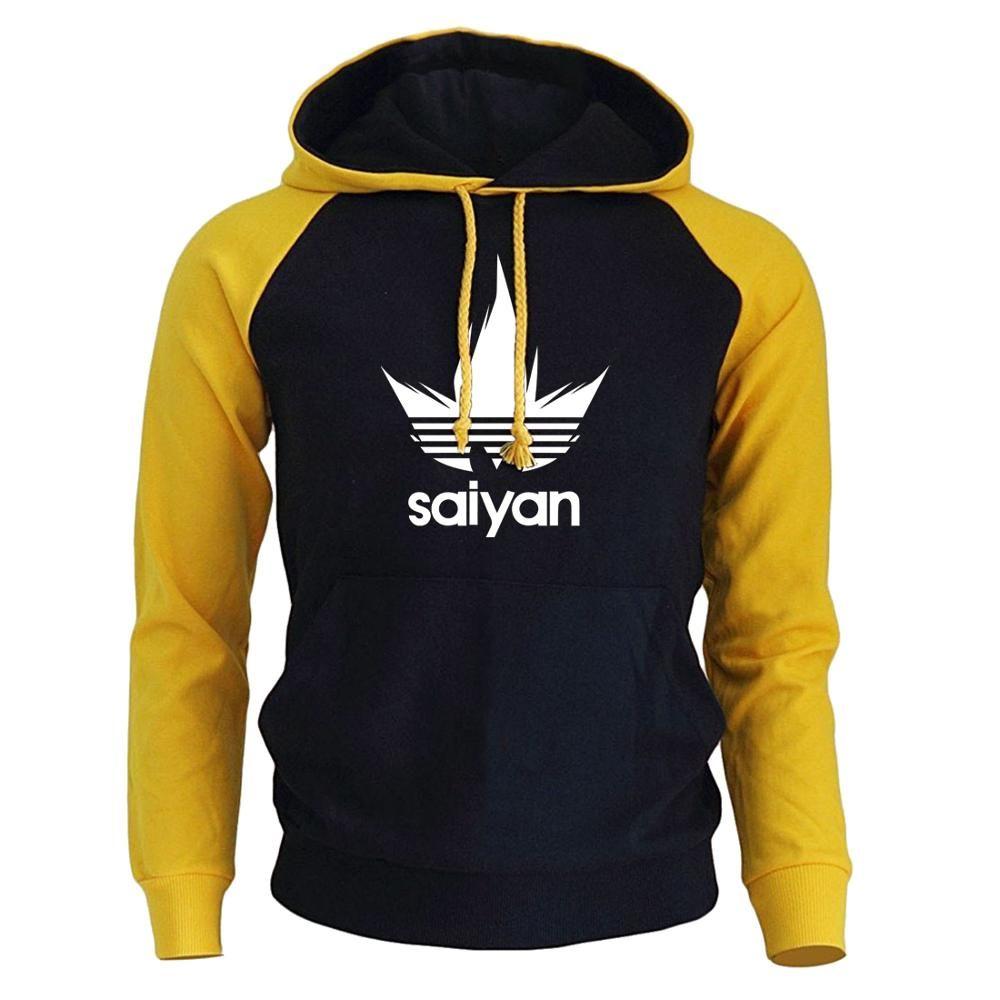 Men's Hoodies Anime Dragon Ball Z Super Saiyan Sweatshirt 2018 New Hot Sale Raglan Hoody Autumn Winter Men's Sportswear Hoodie