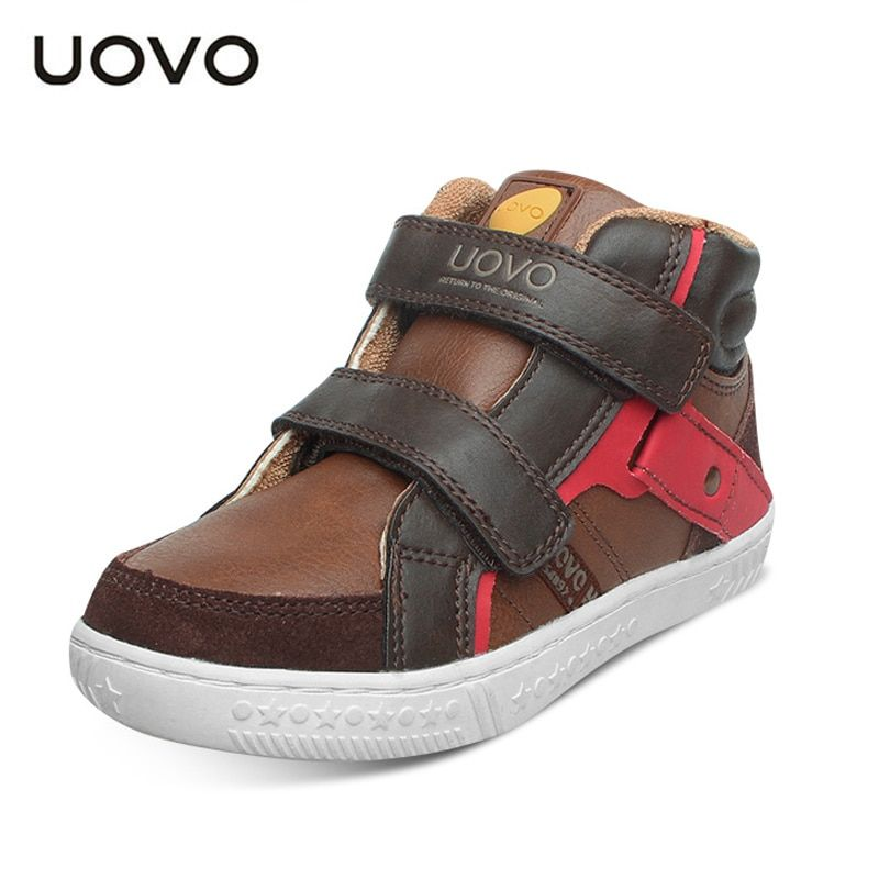 UOVO 2017 Autumn Kids Shoes Boys <font><b>Running</b></font> Shoes Hook And Loop,Fashion Sports Sneakers Rubber Kids School Shoes Size 27#-37#