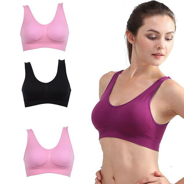 Heißer Verkauf Frauen Weiche Sport-Bh Yoga Workout Tank Top Nahtlose Bh Higt Qualität