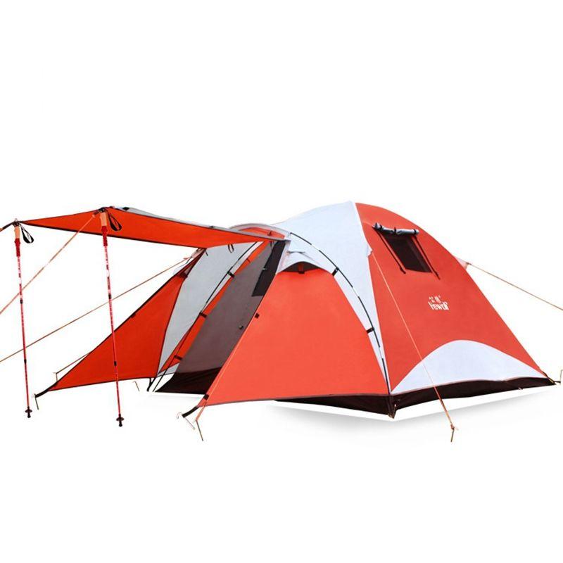 Outdoor-camping-zelt 4 Person doppelschicht Zelt Wasserdicht Aluminiumstange Zelt Familienzelt Einem Schlafzimmer ein Wohnzimmer