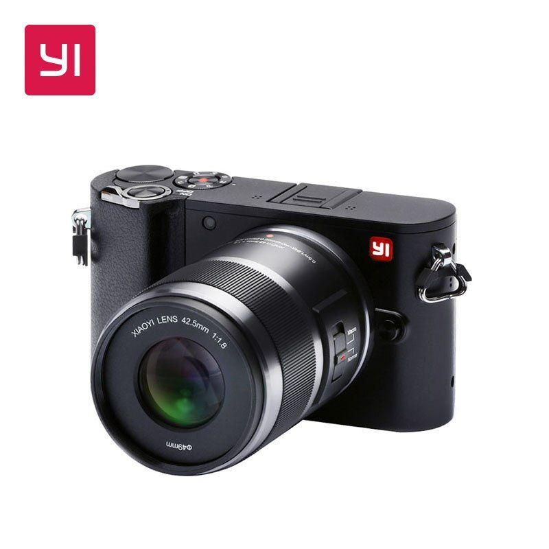 YI M1 Mirrorless Digitalkamera International Version Austauschbar Prime Objektiv 20 MP mit LCD Touchscreen Wi-Fi Bluetooth
