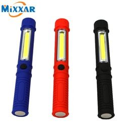 Nzk10 COB LED Mini Pen Multifunction led Torch light Handle work flashlight Work Hand Torch Flashlight With the Bottom Magnet