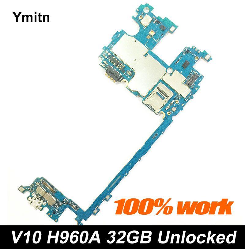 Entsperrt Ymitn Mobile Elektronische panel mainboard Motherboard Schaltungen Flex Kabel Mit Firmware Für LG V10 H960A H960 32 GB