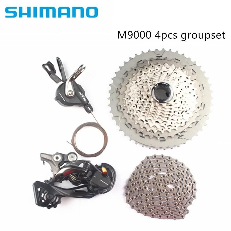 Shimano XTR M9000 4pcs bike bicycle mtb 11speed kit groupset with M8000 cassette 40T 42T 46T