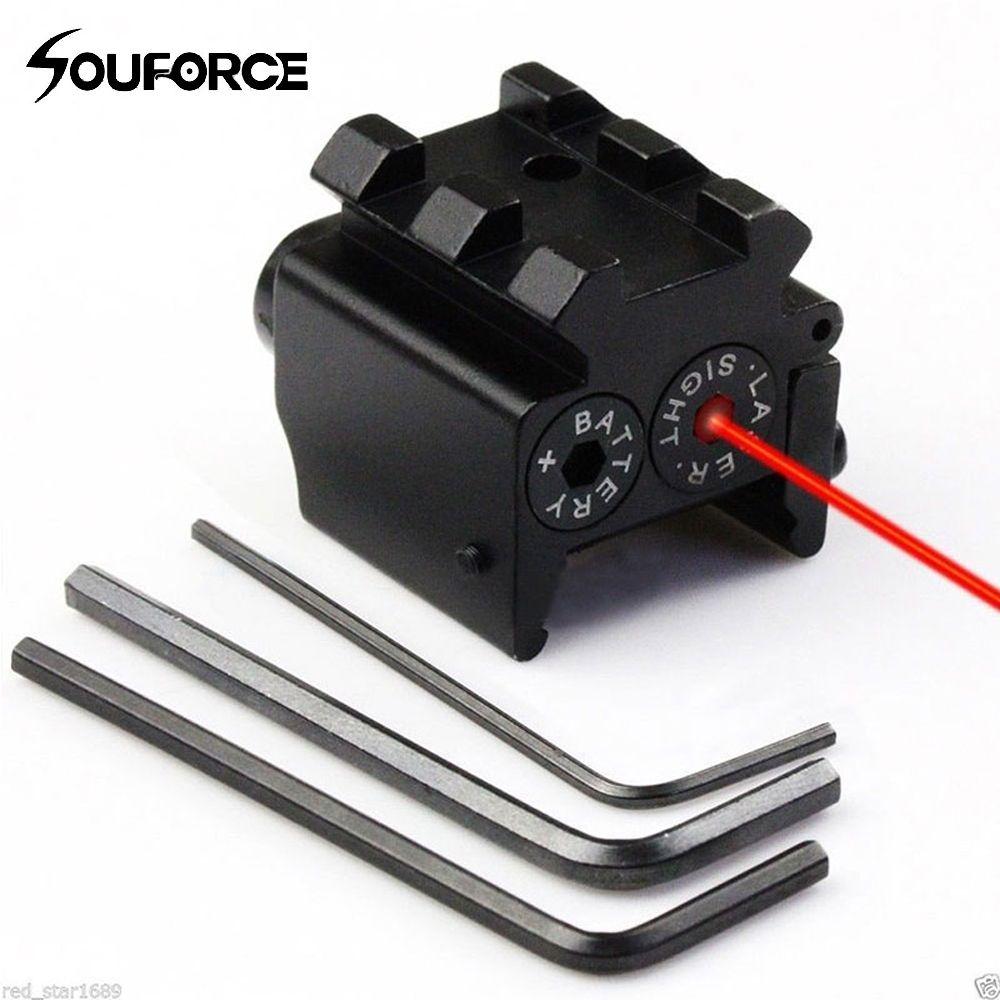 Mini viseur Laser à point rouge Compact réglable avec Picatinny amovible Rail de 20mm pour pistolet fusil à Air comprimé chasse accessible