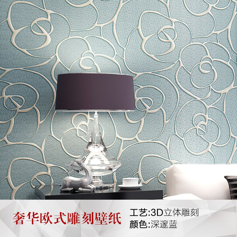 PAYSOTA 3D Wallpaper Modern Simple European Style 3D Embossed Non-woven Living room Sofa Bedroom TV Background Wall Paper Roll
