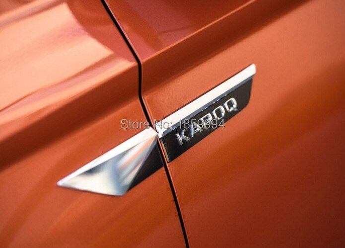 Pour 2017 2018 2019 skoda kodiaq karoq Original aile latérale aile porte emblème insigne autocollant garniture