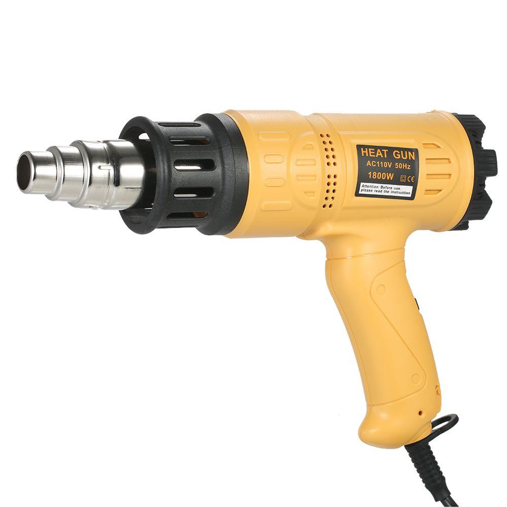 1800W Industrial Heat gun Adjustable Temperature Hot Air Gun Fast Heating Shrink Blower hot gun soldering tool 4 Nozzle AC220V
