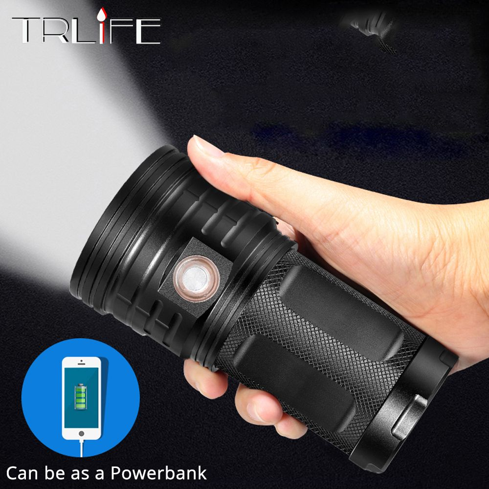 72000Lums LED Lanterna 18*T6 LED Flashlight Torch 3 Modes USB Charging Linterna Lamp Portable Searchlight Power Bank Light