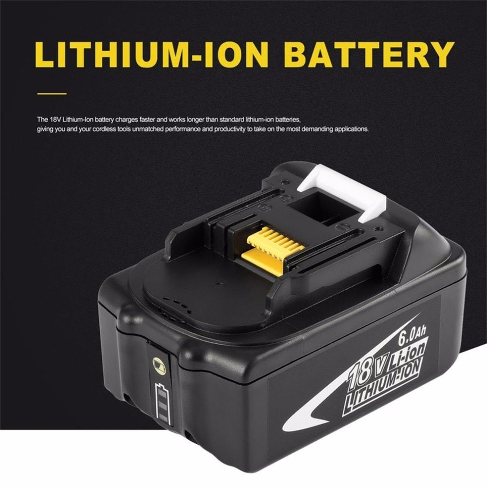New Portable 18V Rechargeable Battery 6AH 6000 mAh Li-Ion Battery Replacement Power Tool Battery for MAKITA BL1860