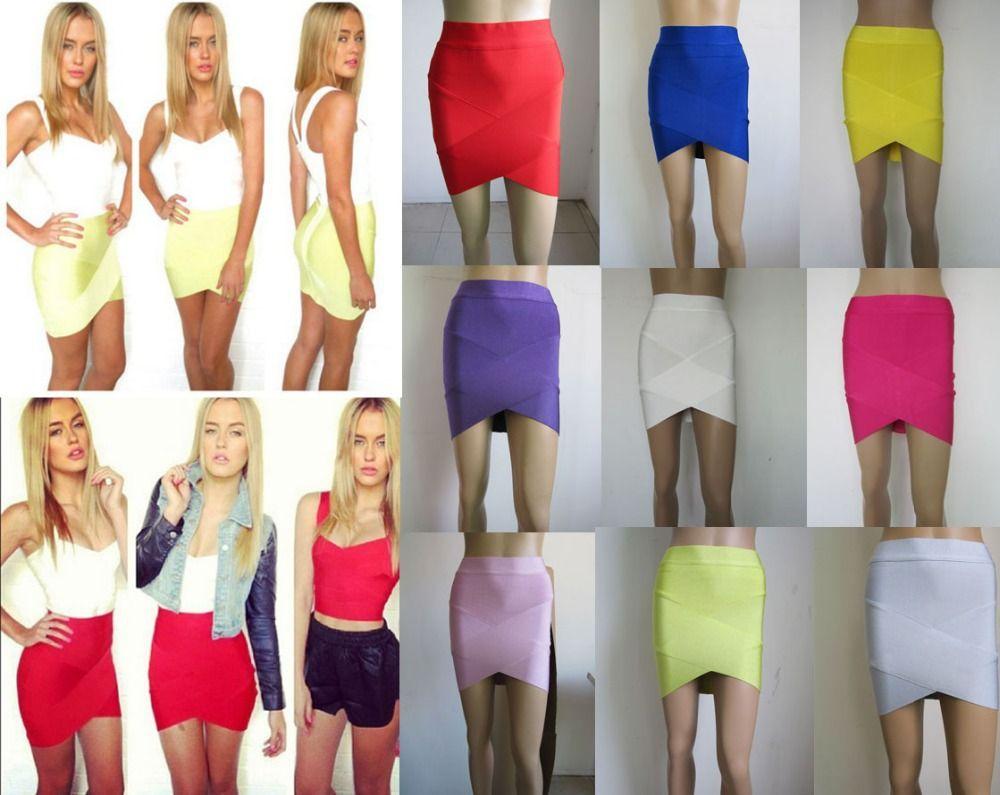 Livraison gratuite Européen et Américain star de la mode Diverses couleurs croix bandage jupes