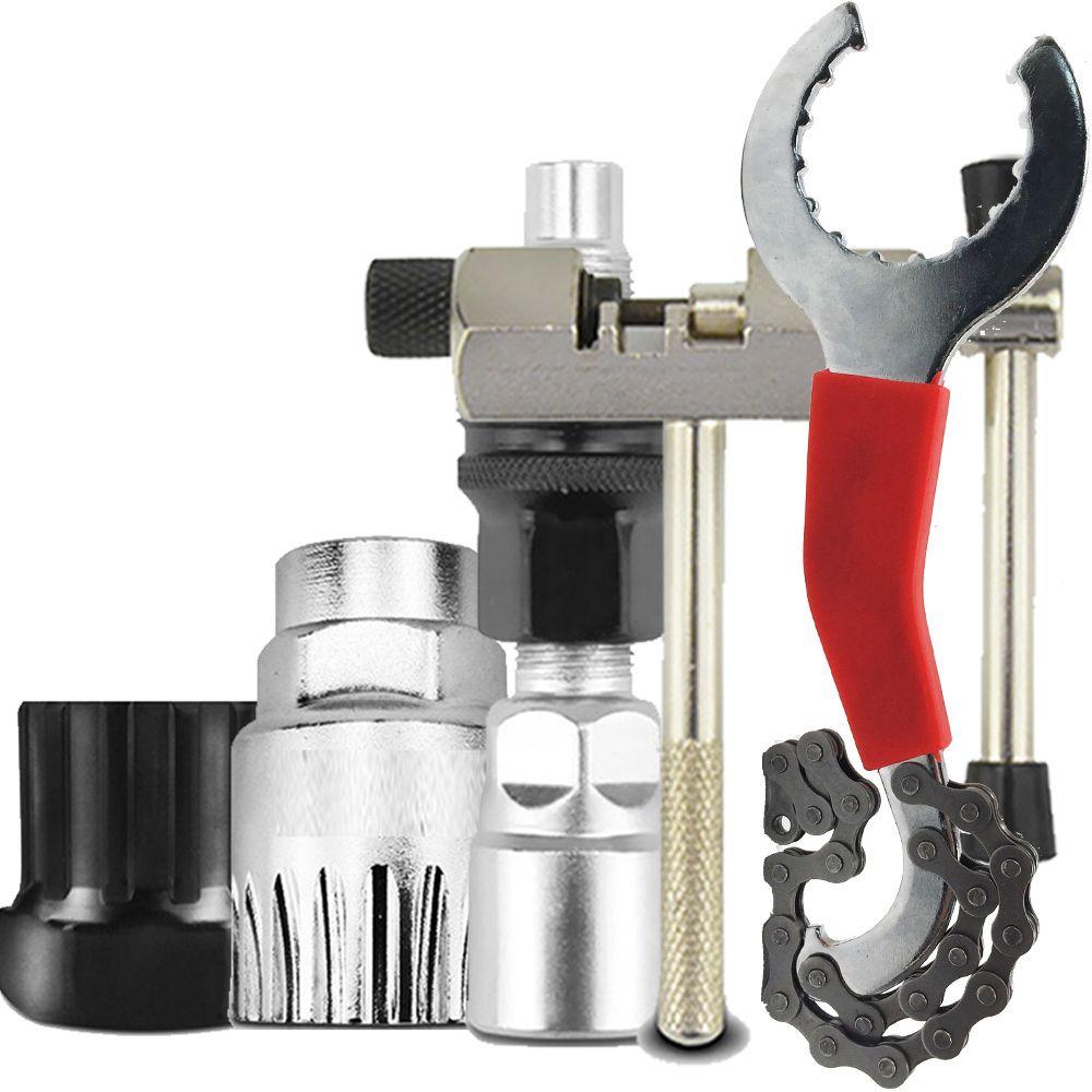 Kits d'outils de réparation de vélo VTT coupe-chaîne/enlèvement de chaîne/dissolvant de support/dissolvant de roue libre/extracteur de manivelle