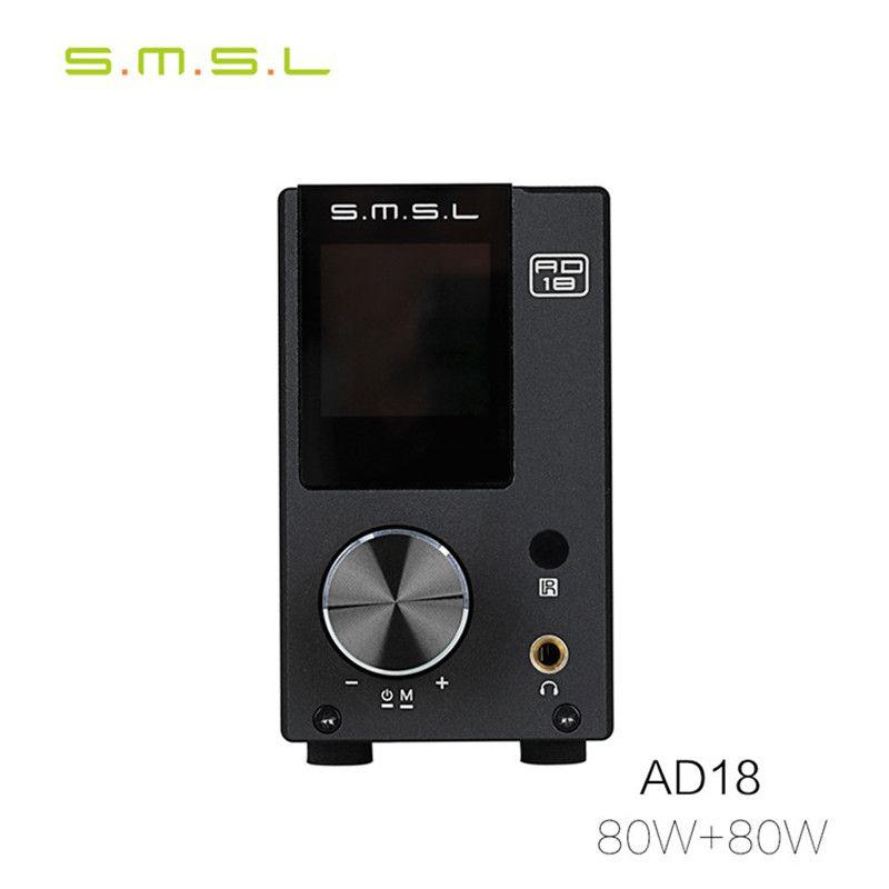 SMSL AD18 bluetooth amplifier audio usb dac decoder player power amplifier amplificad class d amplifier digital amplifier