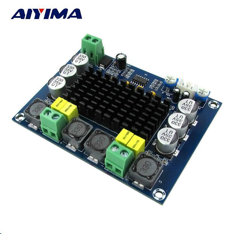 Aiyima TPA3116 двухканальный стерео высокое Мощность цифровой аудио Мощность Усилители домашние доска TPA3116D2 Усилители 2*120 Вт amplificador DIY
