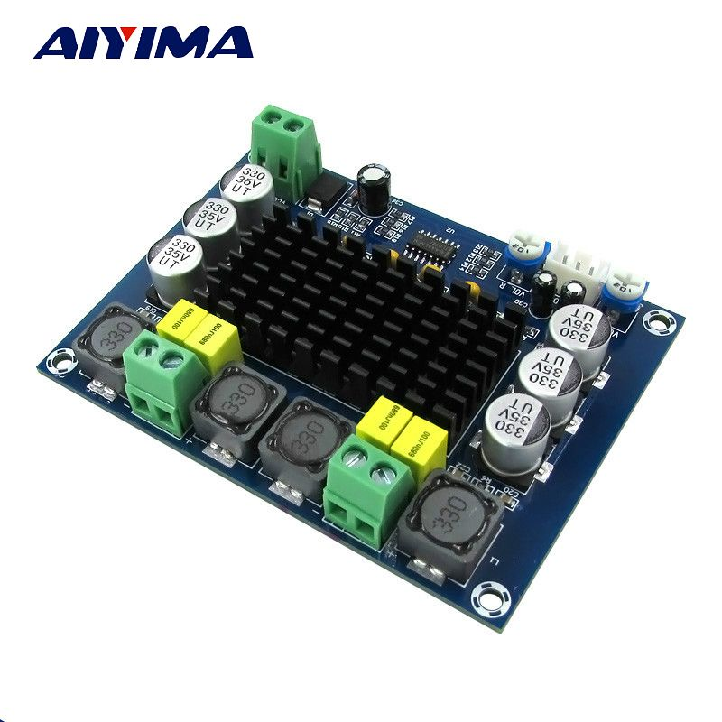 Aiyima TPA3116 Dual-channel Stereo High Power Digital Audio Power Amplifier Board TPA3116D2 Amplifiers 2*120W Amplificador DIY
