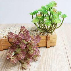 1 unids alta calidad artificial plantas suculentas loto hierba paisaje simulación planta Home Office decoración de flores falsas