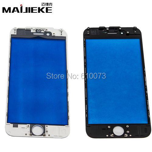 MAIJIEKE Premium A + 6G Frontglas Objektiv mit Mittleren frame für iPhone 6 S 6 Plus Äußere Glas lünette Gehäuse 5 Teile/los