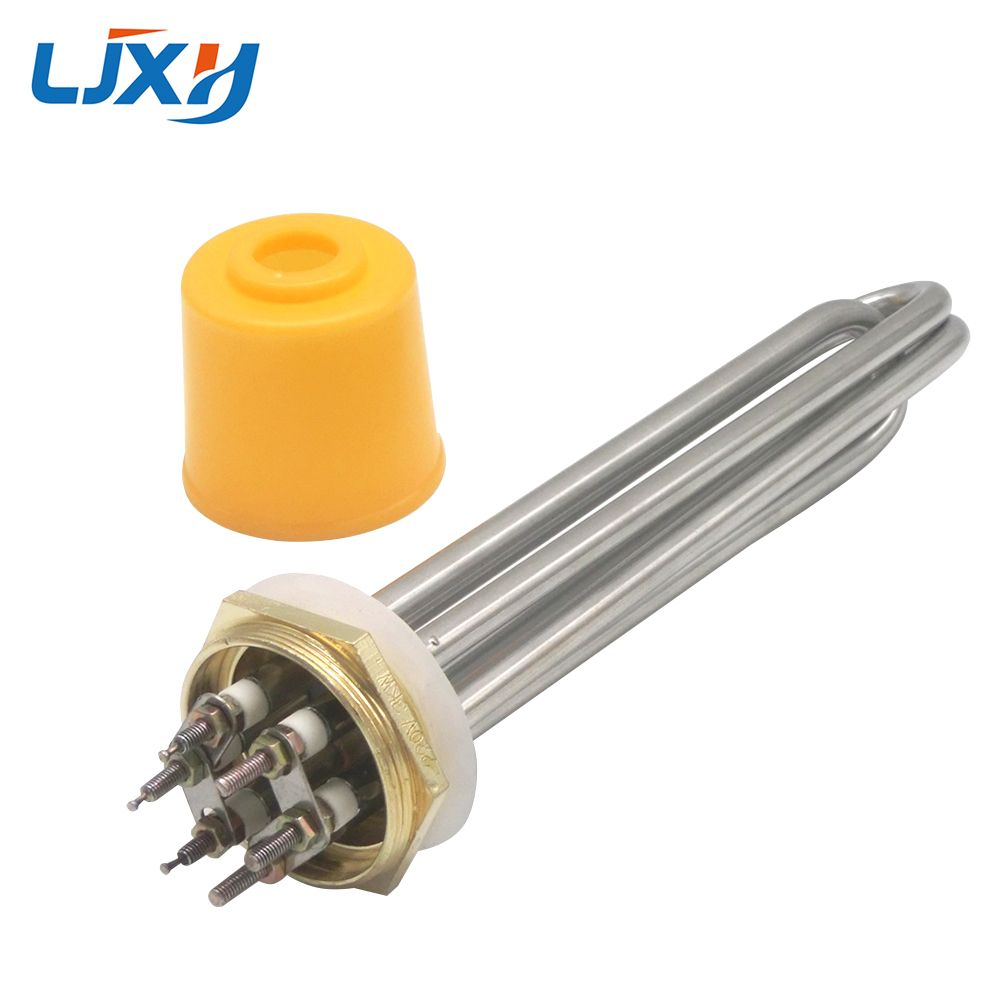 LJXH 304SS DN40/1.5inch Heater for Tank, Electric Water Heater, Heater Element, 220V/380V, 3KW/4.5KW/6KW/9KW/12KW