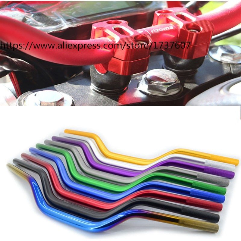 1pcs Motorcycle handlebar 22*700mm Aluminum handle Vintage motorcycle accessories  Multicolor optional for  BWS125 MSX125
