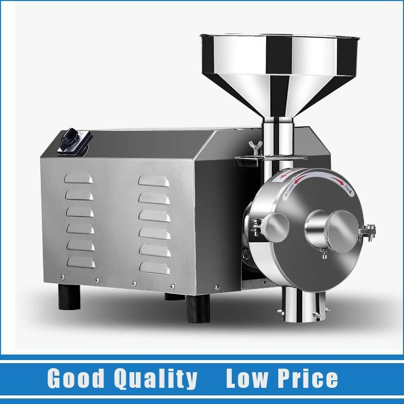 1.8KW Electric Commercial Flour Mill Medicine Pulverizer High Efficiency Corn Grinder Machine
