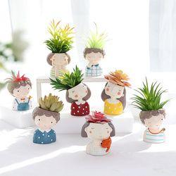 1 piece wholesale Flowerpot Home Garden Mini Bonsai Cactus Planter Pots Succulent Plant Flower Pot Wedding Birthday Gift Ideas