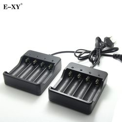 E-XY Battery Charger EU/US plug 4 Slots Intelligent Electronic cigarette Charger for 4X 18650 lithium-ion rechargeable battery