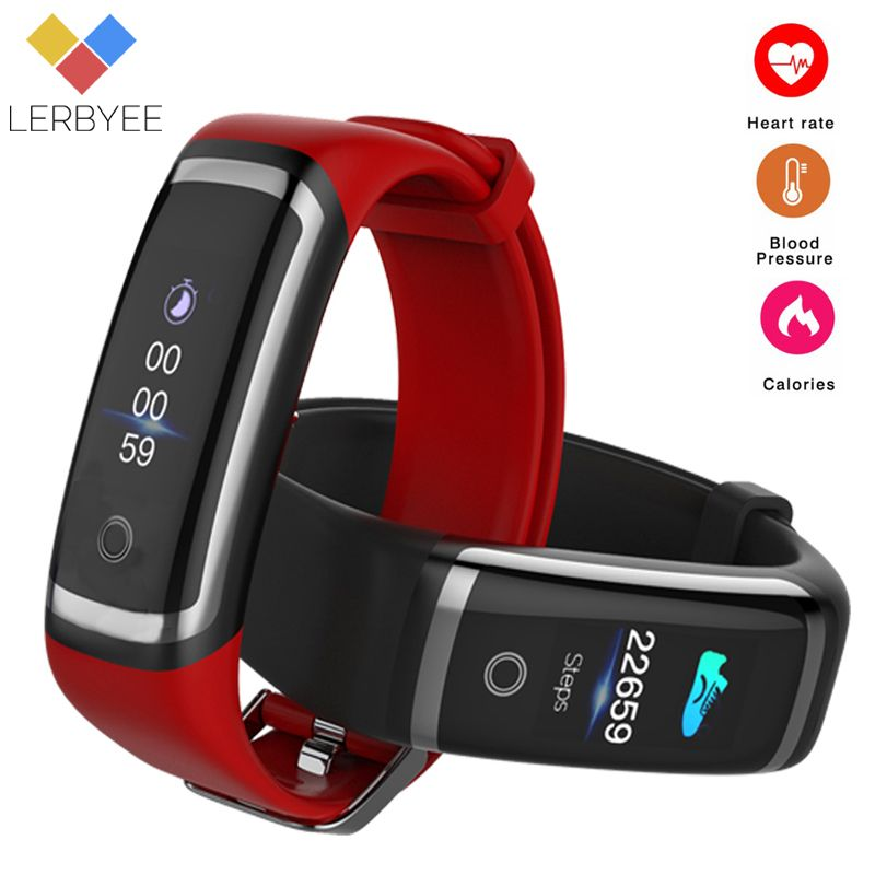 Lerbyee Fitness Tracker M4 Heart Rate Monitor Waterproof Smart Bracelet Bluetooth Call Reminder Sport Wristband for iOS Android