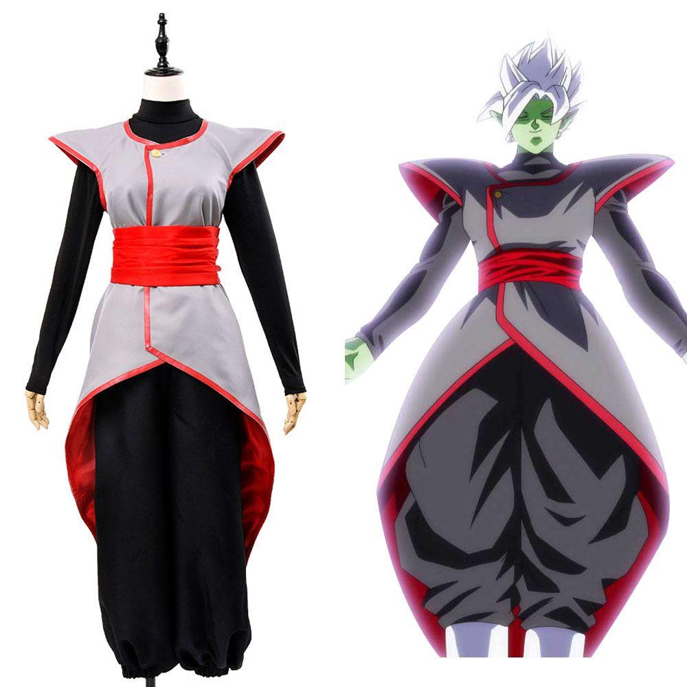 Dragon Ball Super Goku Black Zamasu Merged Potara Fusion Cosplay Costume Outfit Full Set