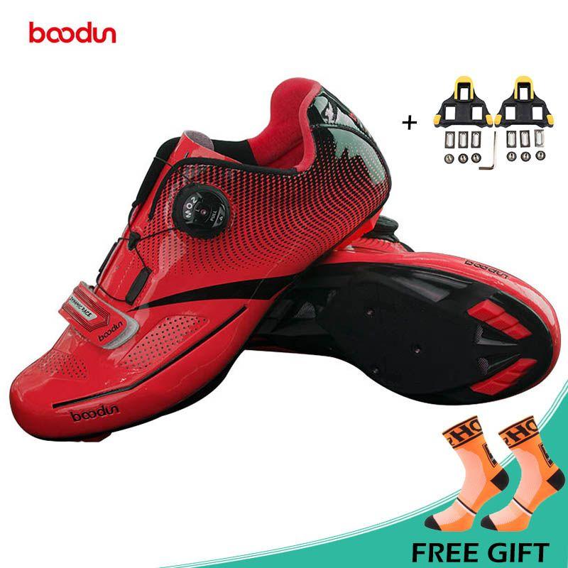 BOODUN New Men Professional Road Bike Shoes Anti-slip Self-locking Cycling Shoes Sports Racing Shoes Sapatos de ciclismo