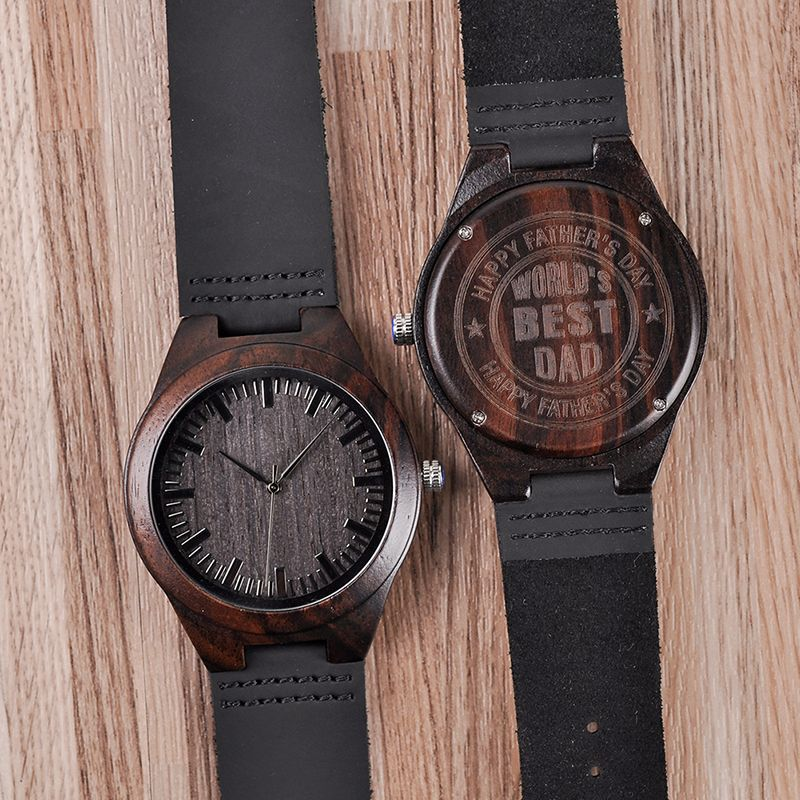 Personalized Engraved Wooden Watches Gifts For Dad,,Mom, friends, Birthday,Anniversary Day,Groomsman Gift