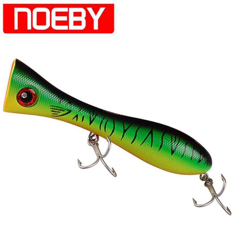 NOEBY Popper Bait 205mm 130g Top Water Fishing Lure VMC Hook Wake Bait Isca Artificial Para Pesca Leurre Dur De Pe Wobbler