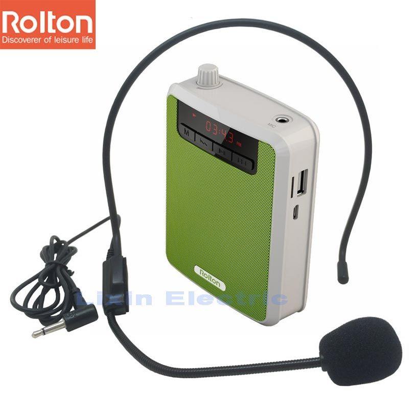 Rolton K300 Portable amplificateur de voix taille bande Clip avec Radio FM TF lecteur MP3 batterie externe pour Guides touristiques enseignement Microphone