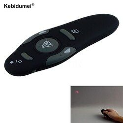 Kebidumei 2.4 GHz Wireless Presenter Red Laser Pointer Pen USB Receiver RF Kontrol Presentasi Powerpoint PPT Halaman Turn