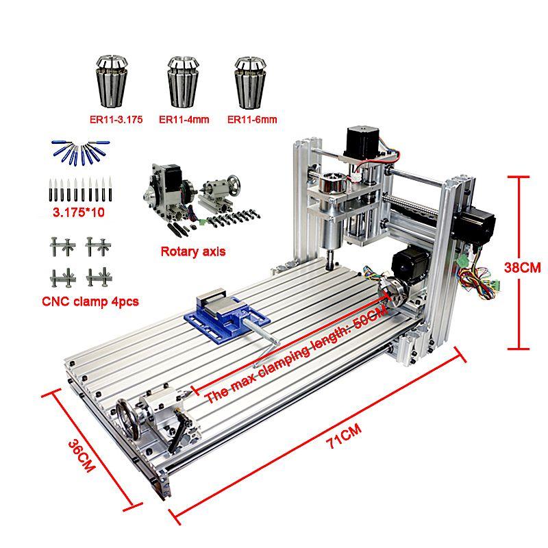 CNC router mini DIY cnc maschine 3060 USB port Fräsen gravur maschine 6030 mit Mach3 ER11 collet werkzeuge kit