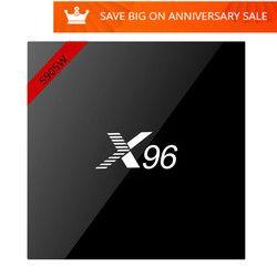 X96 mini X96W TV Smart BOX Android 7.1 Amlogic S905W Quad Core 4 K HD WiFi 2.4 GHz 1G 8G Lecteur Multimédia X96mini Set top box pk A95X