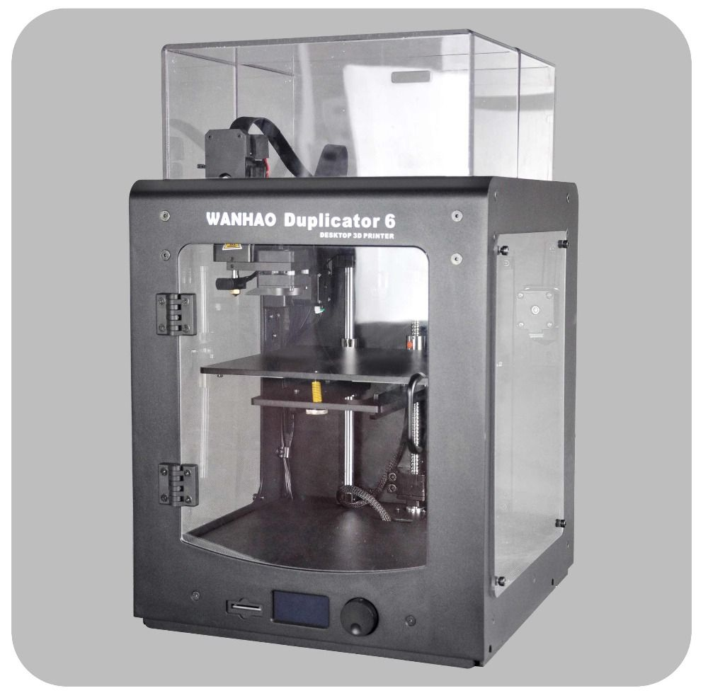 NEW 2018 WANHAO Duplicator 6 Plus (have stock, fast shipping) M200 and insulate cover Acrylic Included 1KG of PLA Filament