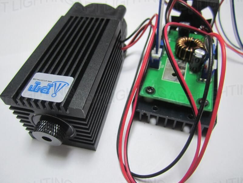 REAL 2000mw/2w 445nm 450nm Focusable blue Laser Module diode High Power laser cutting Engraving Machine TT L DIY CNC Adjust