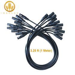 IMRELAX 10 pcs DMX Câble 3.25 pieds/1 Mètre Longueur Stade lumière Câble Fils avec 3 Broches de Signal XLR Mâle à Femelle connexion