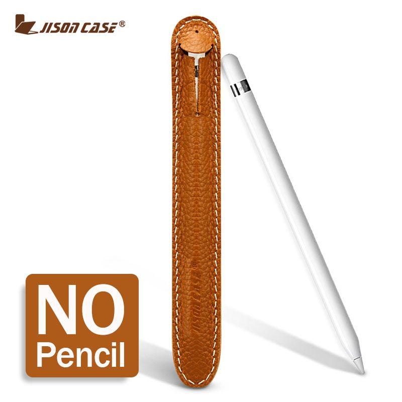 Jisoncase étui en cuir pour Apple porte-crayon tablette tactile stylo couverture pour Funda Apple crayon stylet pour iPad Vintage Design nouveau