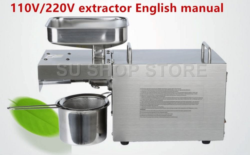110V/220V Heat and Cold home oil press machine pinenut, cocoa soy bean olive oil press machine high oil extraction rate