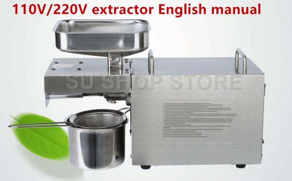 110 v/220 v Wärme und Kalten hause ölpresse maschine pinenut, kakao soy bean olivenöl presse maschine hohe öl extraktion rate