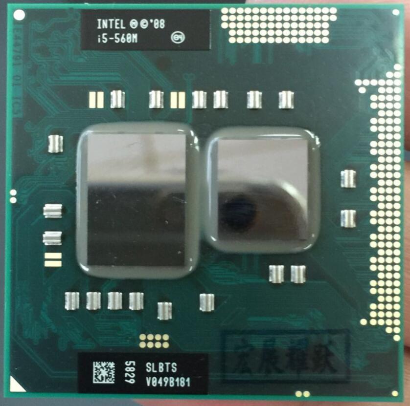 Intel Core i5-560M Ordinateur Portable Processeur i5 560 M Ordinateur Portable CPU PGA988 Portable processeur d'ordinateur